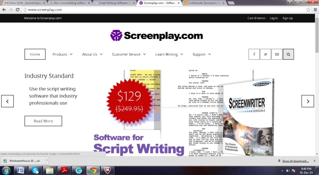 movie script writing software