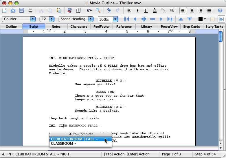 screenwriting software free