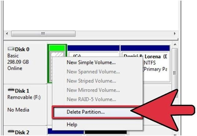 Step by step guide to partition a flash drive