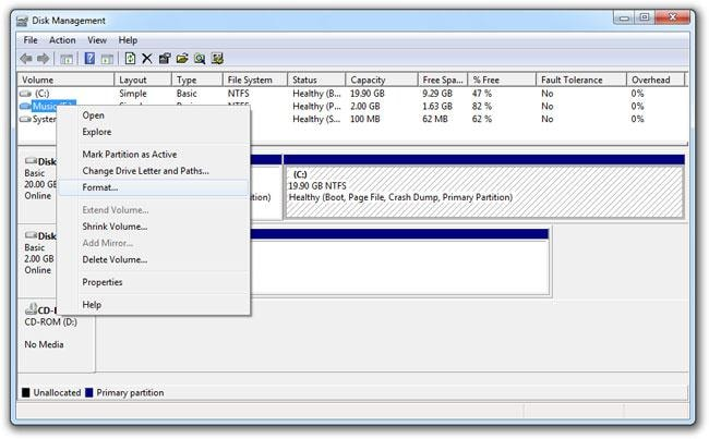 how to format hard disk