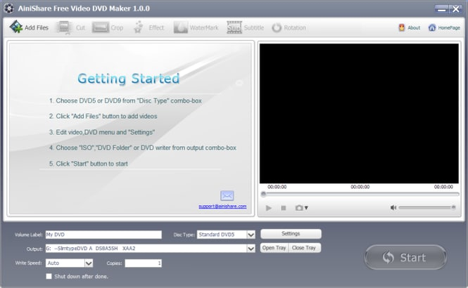 Ainishare DVD Maker Creator for Windows 10