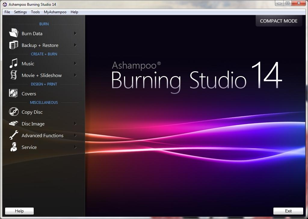 Ashampoo Burning Studio 15 Data Burning Software