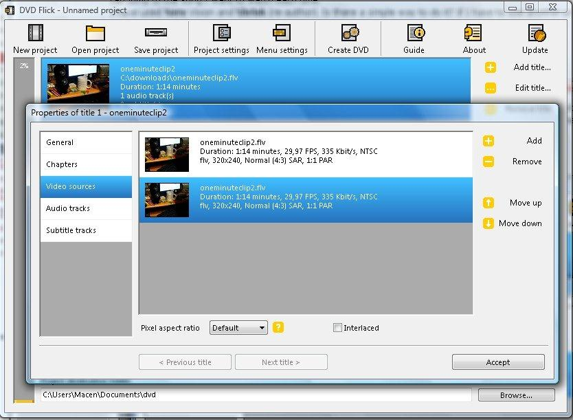 DVD Flick DVD Creator Freeware