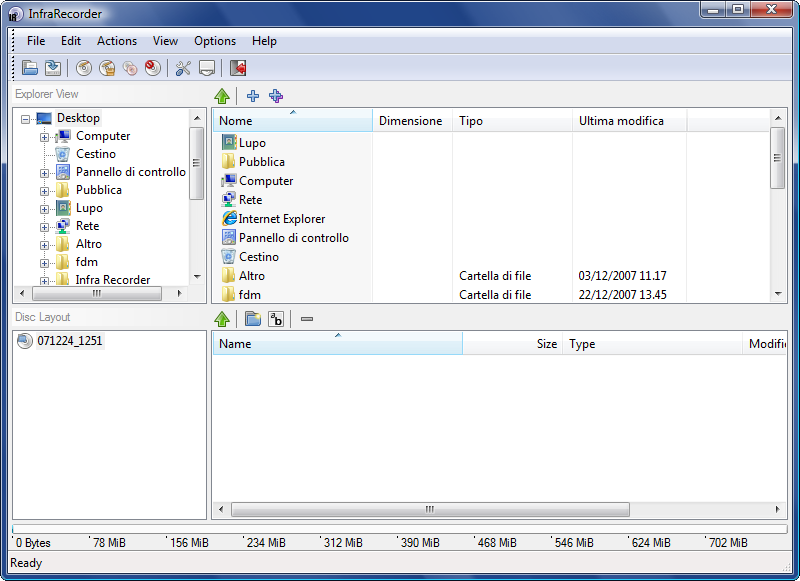 InfraRecorder DVD writer software
