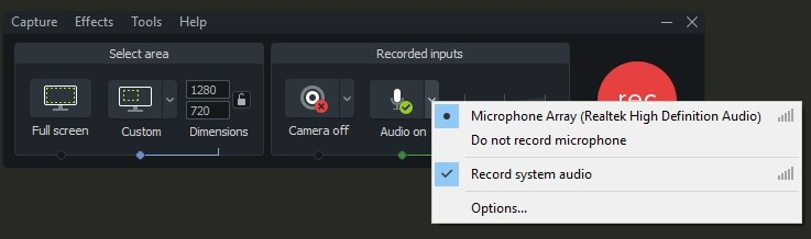 Record Discord Audio using Camtasia