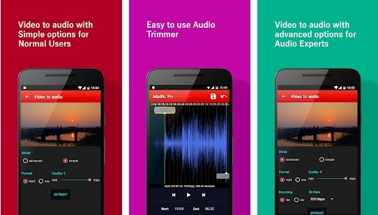 how to extract audio from video android