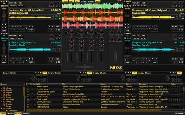interface of music video maker