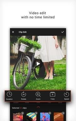 interface of music video maker app