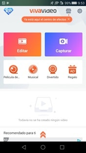 interface of music video maker app android