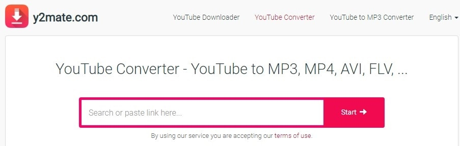 youtube video format konverter oberfläche