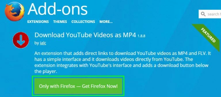 how to download youtube videos without any software for firefox