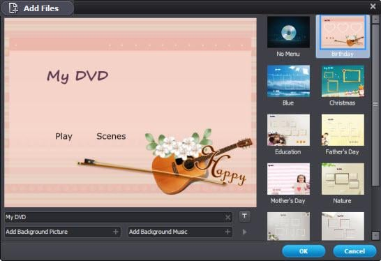 vuze to dvd with menu