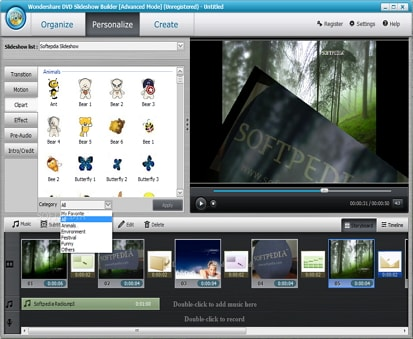 Wondershare DVD Slideshow Builder Deluxe Screenshot