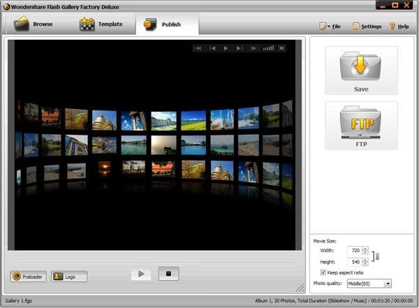 create flash gallery with xml
