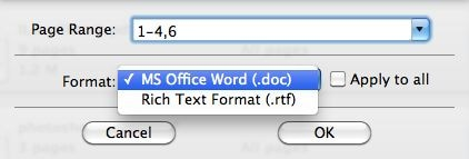 Wondershare PDF to Word for Mac Screenshot