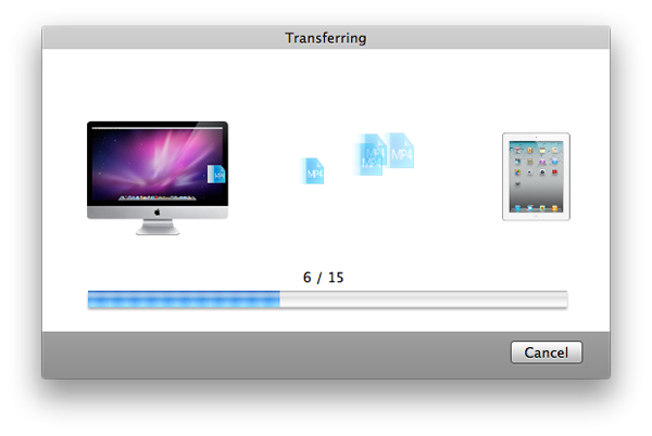 transfer files from Mac to iPad, iPhone or iPod