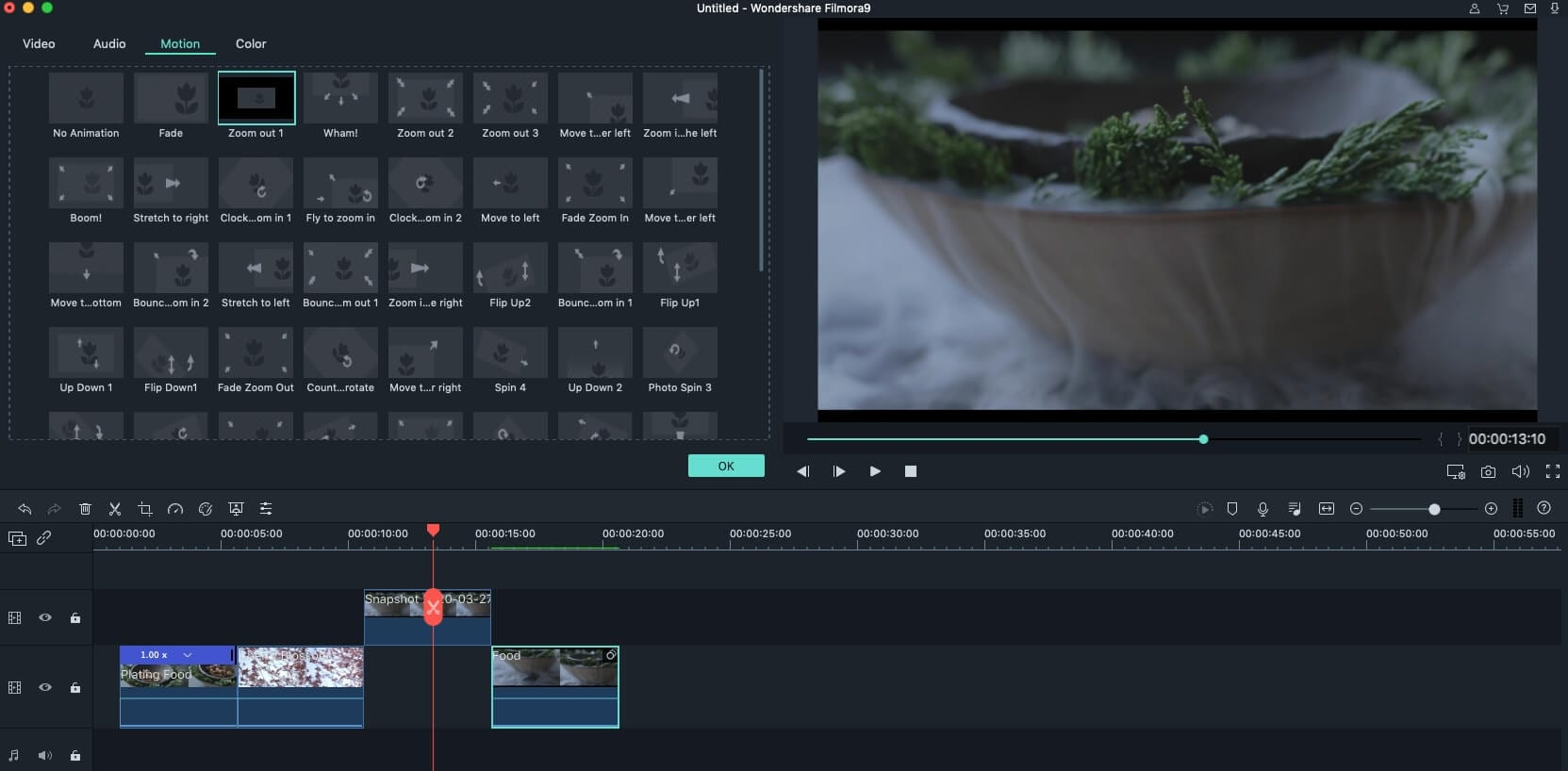 Wondershare Video Editor for Mac Screenshot