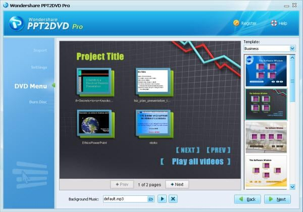 Wondershare PPT2DVD Pro Screenshot