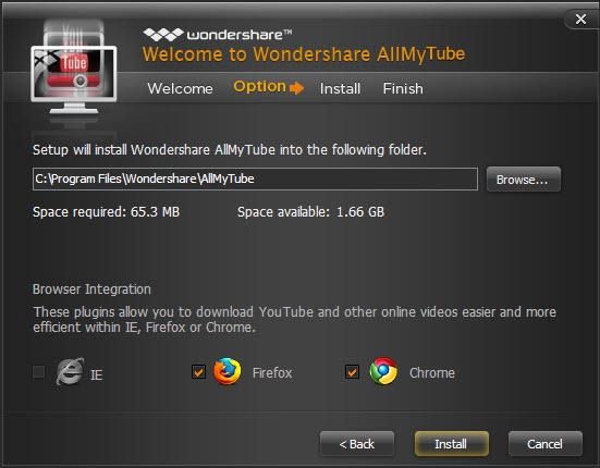 Wondershare AllMyTube Screenshot