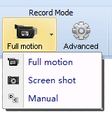 Select recording mode