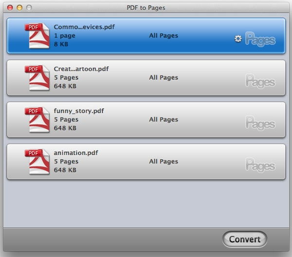 convert PDF to iWork Pages on Mac