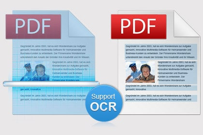 OCR function to Convert Scanned PDF (Only for PDF Converter Pro)