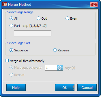 Merging Method