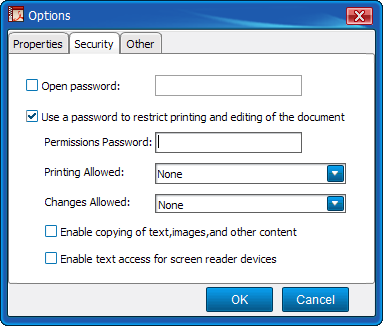 Customize PDF Security and Properties