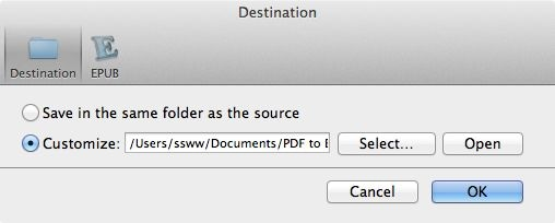 set an folder to save EPUB