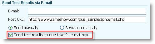send quiz report via email