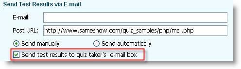 send quiz report via email