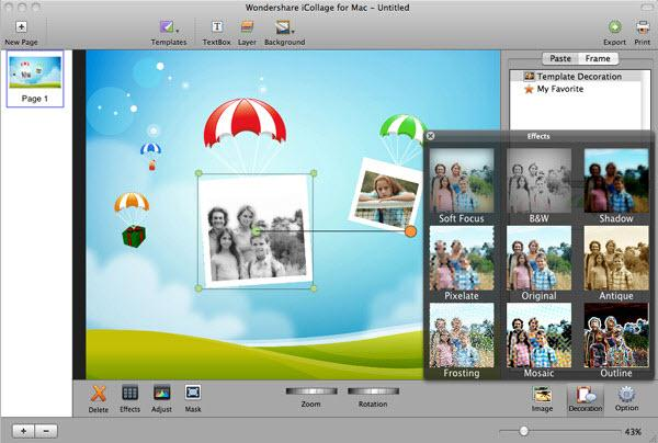 iCollage for Mac edit photos