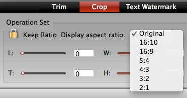 How to set aspect ratio on Mac/iPhone/iPad