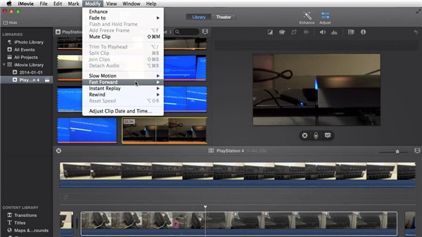How to fast forward in iMovie on Mac/iPad