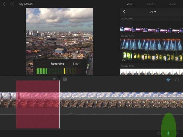 Import videos to iMovie