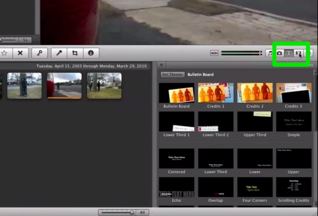 apply video effects