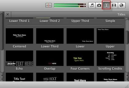 apply video effects with iMovie