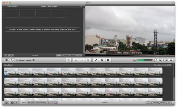 iMovie split screen on Mac/iPad/iPhone