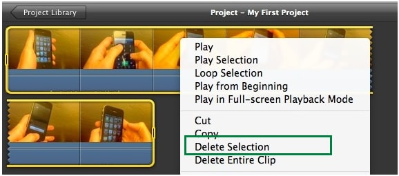 delete imovie theatre movie