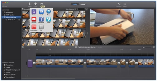 export imovie theatre