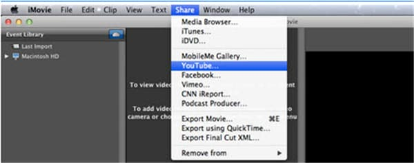 How to import YouTube Videos to iMovie