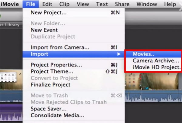 How to import FLV to iMovie