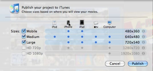How to add and share iMovie to iTunes Library