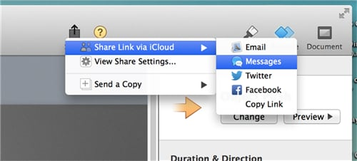 How to share iMovie video to iCloud