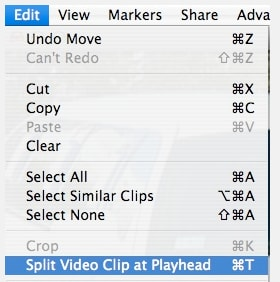 How to split a clip on Mac/iPhone/iPad