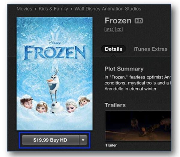 itunes movie price