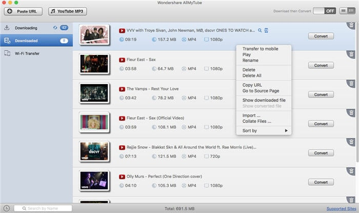 Wondershare AllMyTube for Mac Screenshot
