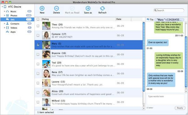 Wondershare MobileGo for Android Pro (Mac) Screenshot