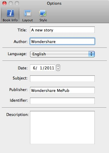 Wondershare MePub for Mac Screenshot