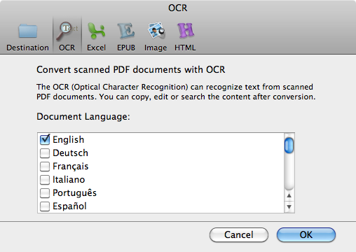 converting PDF to Text Mac